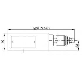Tryckbegränsare max 70bar A till T (ZDV-A01-1-S0-D1)