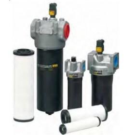 In-line filter med vattenabsorberande element