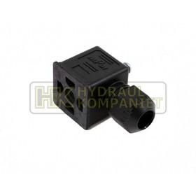 Svart kontaktdon IP67 AC max.250V - DC max 300V