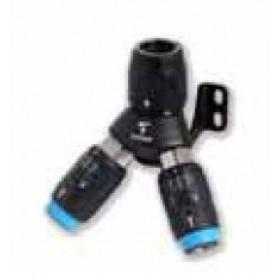 Uttag 45° inkl. snabbkoppling ø25mm till 2 x ISO B 6