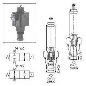 2/2-ventil El-styrd NC 75L/min Kavitet C16-2
