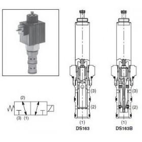 3/2-ventil El-styrd 42L/min Kavitet C16-3