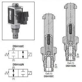 2/2-ventil El-styrd NC 30L/min Kavitet C10-2