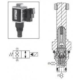 2/2-ventil El-styrd NC 34L/min Kavitet C08-2