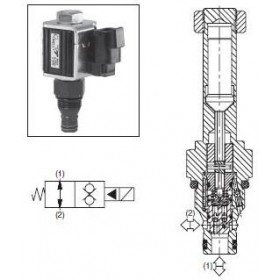 2/2-ventil El-styrd NO 34L/min Kavitet C08-2