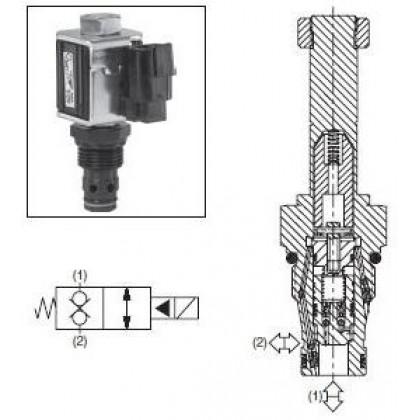 2/2-ventil El-styrd NC 68L/min Kavitet 2R