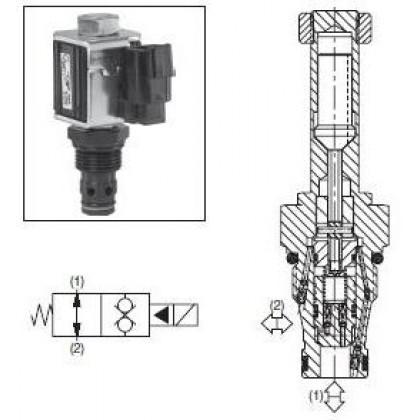 2/2-ventil El-styrd NO 68L/min Kavitet 2R