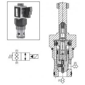 2/2-ventil El-styrd NC 190L/min Kavitet C16-2