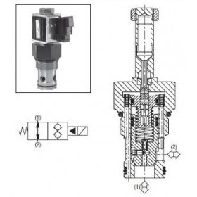 2/2-ventil El-styrd NO 190L/min Kavitet C16-2
