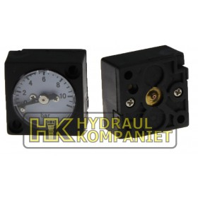 Manometer 0-10bar, fyrkants (för G1/4)