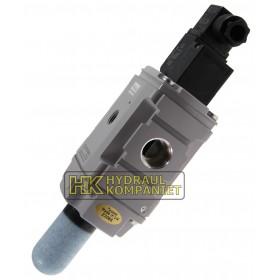 Mjukstart/dräneringsventil G1/2, 24VDC