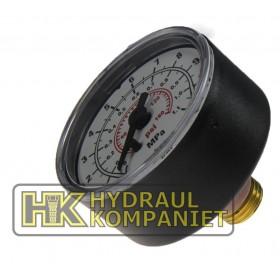 Manometer 0-10bar, G1/4 (för G1/2)