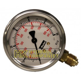 Manometer 63mm 0-60bar sidoanslutning